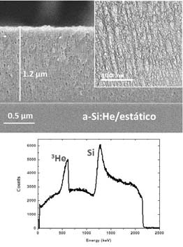 Production of porous solids with embedded gases to be used as solid-gas nanocomposite materials