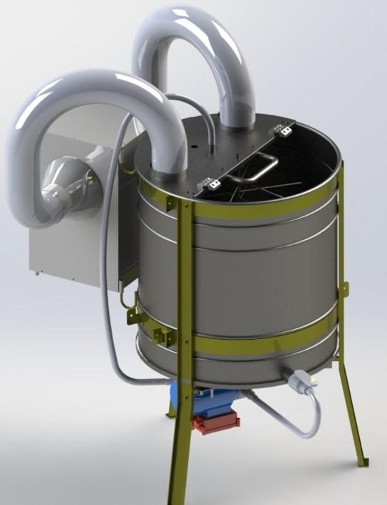 Vertical centrifugal honey dehydrator (VCHD)/honey dryer
