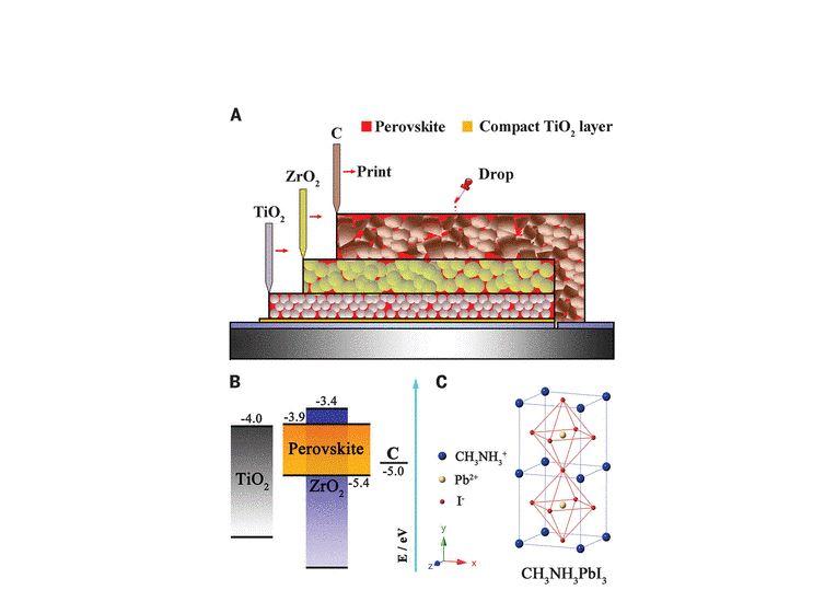 Fully Screen-Printable Perovskite Solar Cells