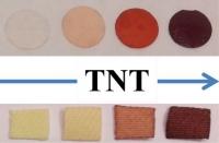 Nuevos sensores colorimétricos sólidos y en disolución acuosa de bajo coste, para la detección visual in situ y cuantificación de nitro-explosivos (TNT)