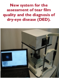 Non-invasive method to objectively determine the dynamics of the tear film and diagnose dry-eye disease (DED)